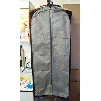 Чехол для одежды с ручками 140х60 объемный (серый)