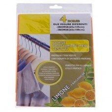 Набор ароматизированных пакетов для одежды 4шт.  (лимон)