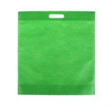 Сумка из спанбонда с вырубной ручкой, зеленая