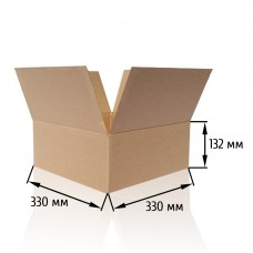 Картонная коробка 330x330x132 (маленькая)