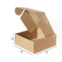 Самосборная картонная коробка с крышкой 372x265x130 Т-24