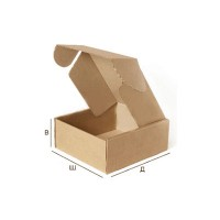Самосборная картонная коробка с крышкой 312x245x100 Т-24