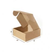 Самосборная картонная коробка с крышкой 162x112x62 Т-23