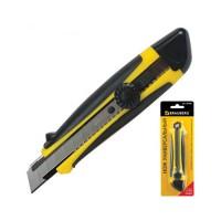 Нож канцелярский 18мм Brauberg, роликовый фиксатор, с резиновыми вставками