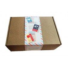 Самосборная картонная коробка с обечайкой 320x220x100