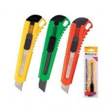 Нож канцелярский 18мм Brauberg (стандарт)