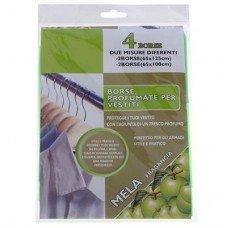 Набор ароматизированных пакетов для одежды 4шт. (яблоко)
